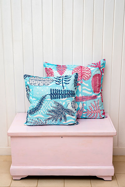 Funky leaves indoor pillow cover
